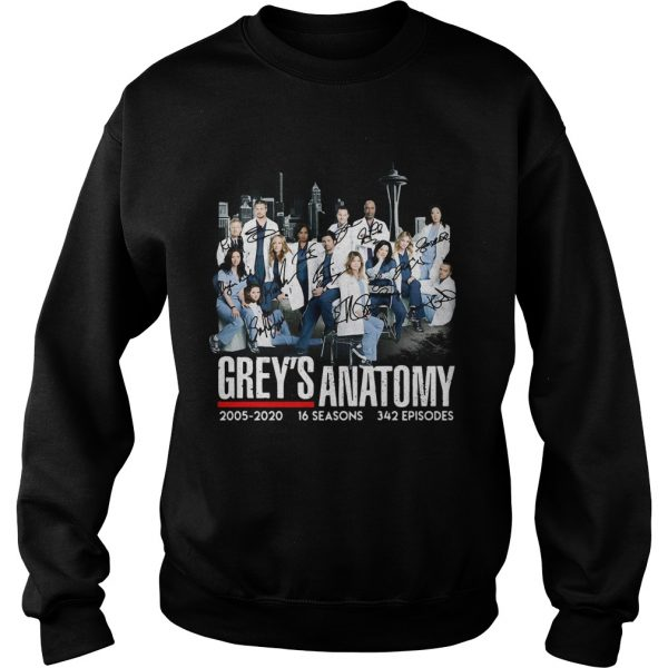 Greys Anatomy 2005 16 seasons 342 episodes signatures  Sweatshirt