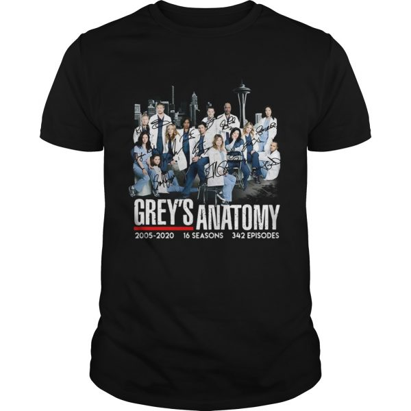 Greys Anatomy 2005 16 seasons 342 episodes signatures  Unisex