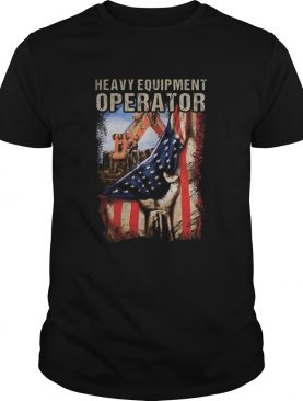 Heavy equipment operator american flag independence day shirt