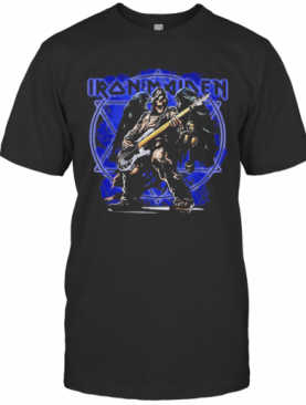 Iron Maiden Band Skeleton Playing Guitar T-Shirt