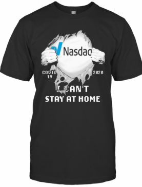 Nasdag I Can'T Stay At Home Covid 19 2020 Superman T-Shirt