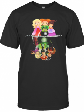 Halloween Hocus Pocus Witch Water Reflection T-Shirt