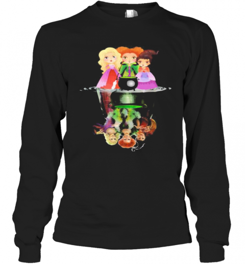 Halloween Hocus Pocus Witch Water Reflection T-Shirt Long Sleeved T-shirt