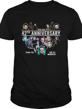 Halloween michael myers 1978 2020 42th anniversary thank you for the memories shirt
