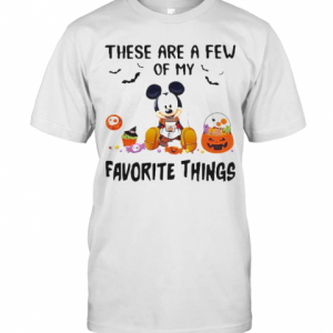 Mickey Mouse These Are A Few Of My Favorite Things Pumpkins T-Shirt Classic Men's T-shirt