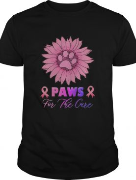 Sunflower Paws for the cure Breast Cancer Awareness shirt