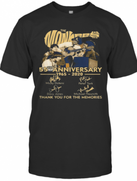 TNT The Monkees 55 Years Anniversary 1965 – 2020 Signatures Thank You For The Memories T-Shirt