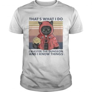 Thats What I Do I Master The Dungeon And I Know Things Vintage  Unisex