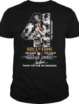 41 The Franchise Hall Of Fame Tom Seaver Mets Legend Thank You For The Memories Signature shirt