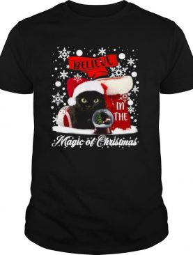 Cat Believe In The Magic Of Christmas shirt