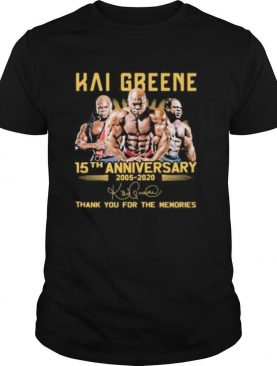 Hai greene 15th anniversary 2005 2020 thank for the memories signatures shirt