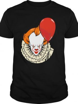 Happy halloween pennywise holding balloon shirt