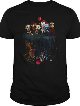 Horror Characters Water Mirror Reflection shirt