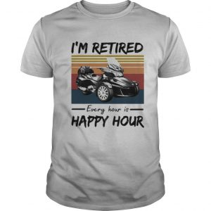 Spyder i'm retired every hour is happy hour vintage retro shirt