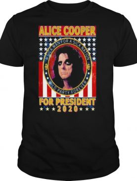 Alice cooper for president 2020 a sick man for a sick animation wild party forever vintage shirt