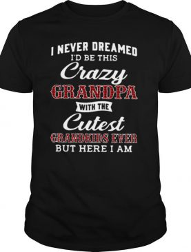 I Never Freamed I'd Be This Crazy Grandpa With The Cutest Grandkids Ever But Here I Am shirt