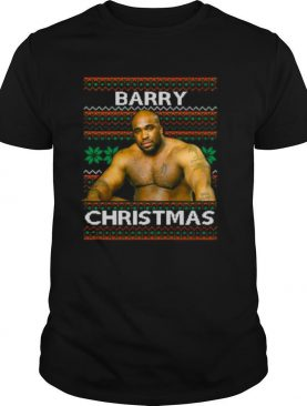 Barry Sitting On A Bed Meme Ugly Christmas shirt