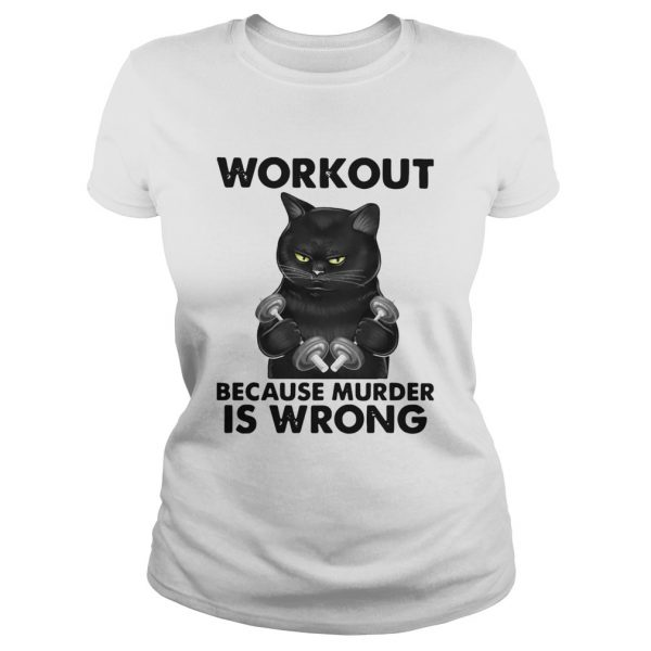 Black Cat Gym Workout Because Murder Is Wrong  Classic Ladies