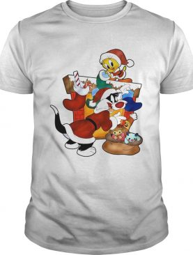 Girls Red Sylvester The Cat And Tweety Bird Christmas shirt