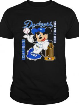 Mickey Mouse Los Angeles Dodgers Champions 2020 World Series shirt