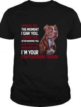I Wanted You The Moment I Saw You I Loved You After Knowing You Staffordshire shirt