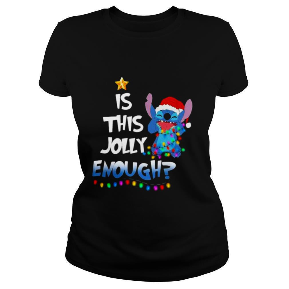 Is This Jolly Enough Christmastree Stitch Xmas shirt