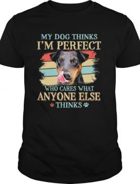 Jagdterrier my dog thinks Im perfect who cares what anyone else thinks shirt