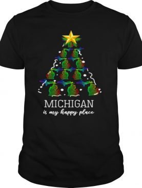 Michigan is my happy place Christmas shirt