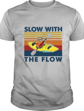 Sloth Slow With The Flow Vintage shirt