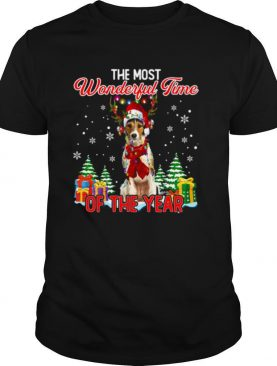 Wire Fox Terrier The Most Wonderful Time Of The Year Christmas shirt