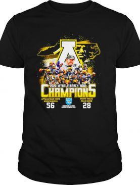 2020 Myrtle Beach Bowl Champions Appalachian State Mountaineers 56 North Texas Mean Green 28 shirt