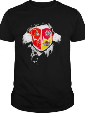 Cleveland Browns and Ohio State Buckeyes blood inside me shirt