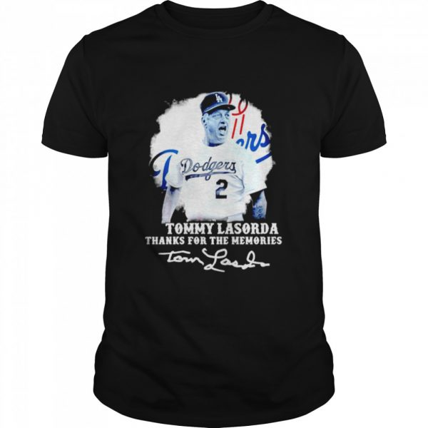 Los Angeles Dodgers Tommy Lasorda Thanks For The Memories Signatures  Classic Men's T-shirt