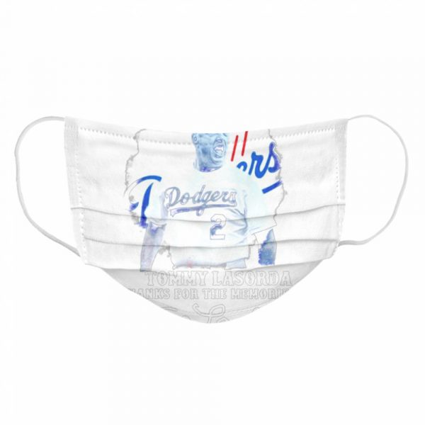 Los Angeles Dodgers Tommy Lasorda Thanks For The Memories Signatures  Cloth Face Mask