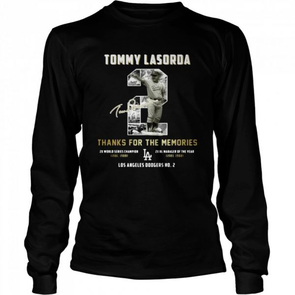 Tommy Lasorda Thanks For The Memories La Dodgers  Long Sleeved T-shirt