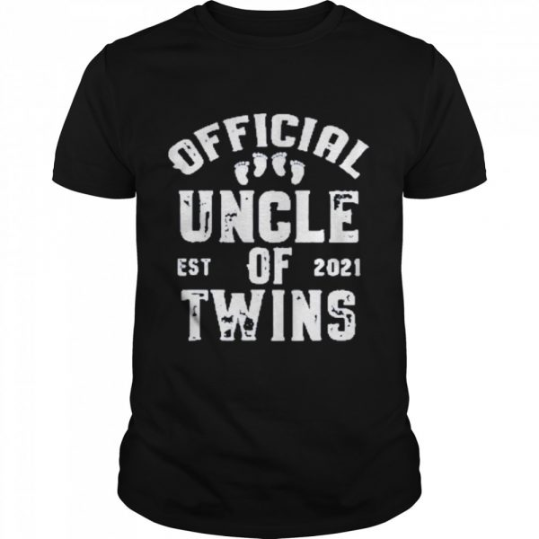 official uncle of twins est 2021 fathers day  Classic Men's T-shirt