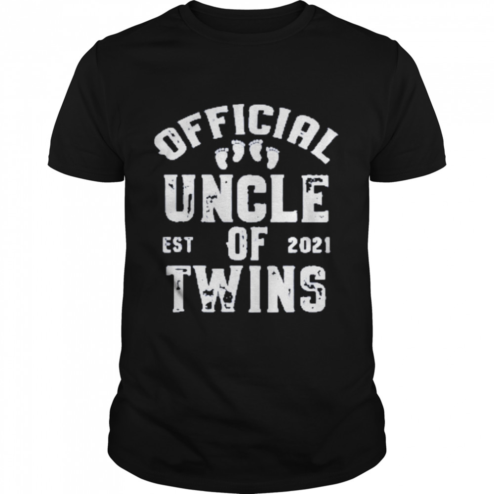 official uncle of twins est 2021 fathers day Classic Mens T shirt