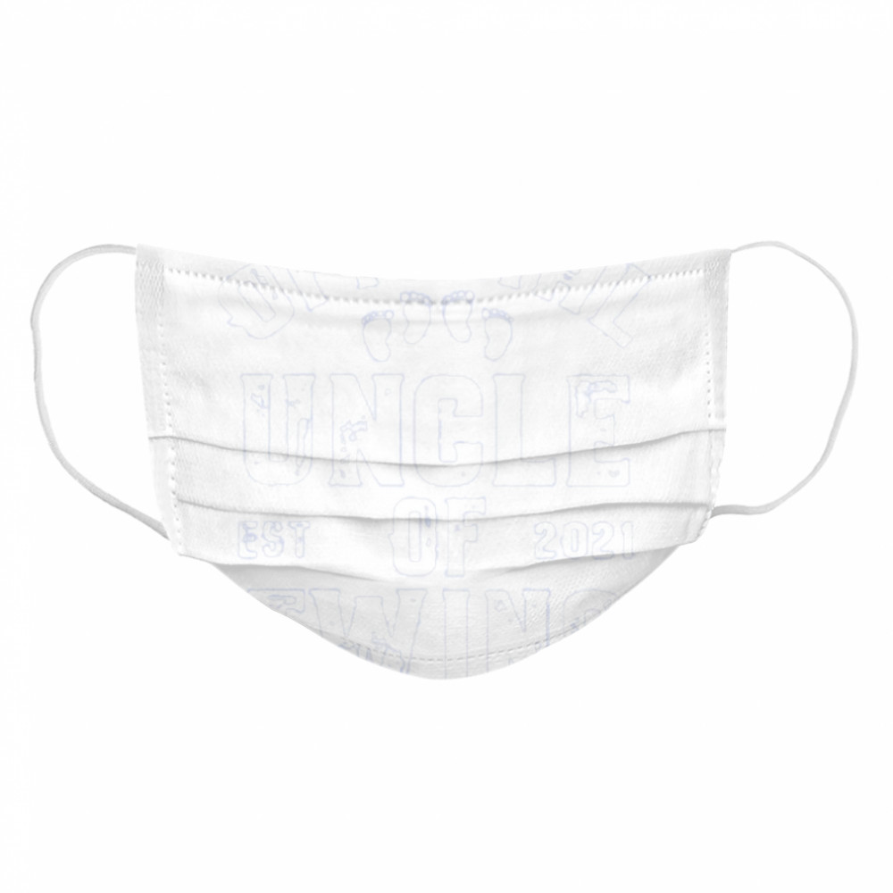 official uncle of twins est 2021 fathers day  Cloth Face Mask