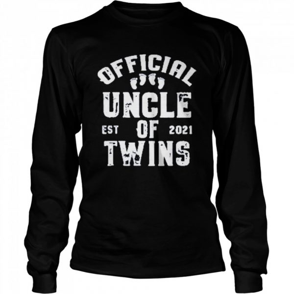 official uncle of twins est 2021 fathers day  Long Sleeved T-shirt