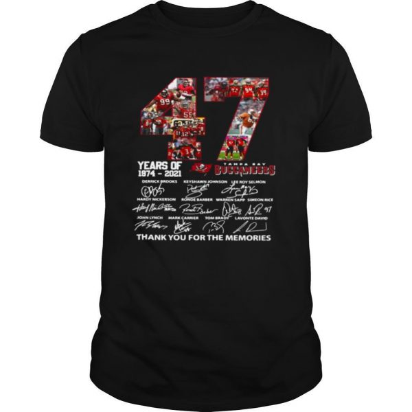 47 Year Of 1974 2021 Thank You For The Memories Signature shirt
