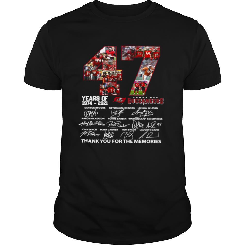 47 Year Of 1974 2021 Thank You For The Memories Signature shirt0