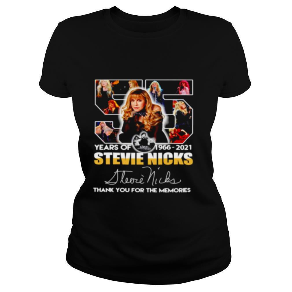 55 years of Stevie Nicks 1966 2021 thank you for the memories shirt