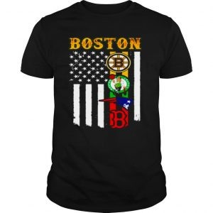 Boston Sports Teams American flag shirt