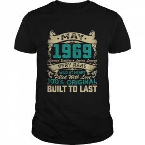52nd Birthday Decorations May 1969 52 Years Old Shirt Classic Men's T-shirt