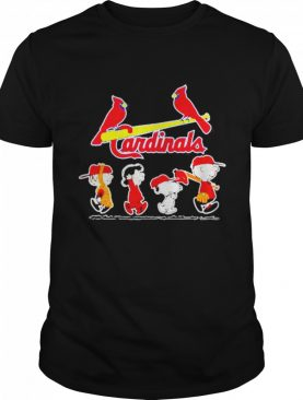 Cardinals football Snoopy Charlie and Friends shirt
