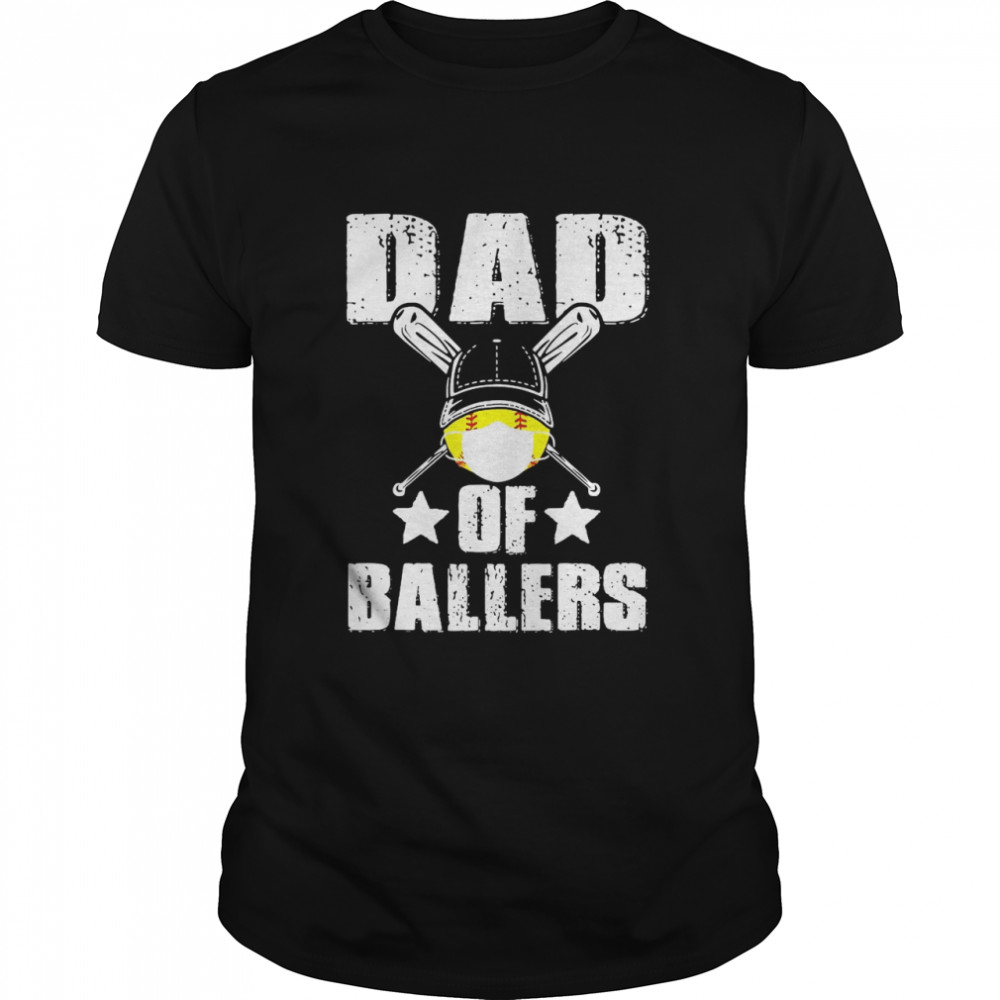 Dad Of Ballers Face Mask Classic Mens T shirt