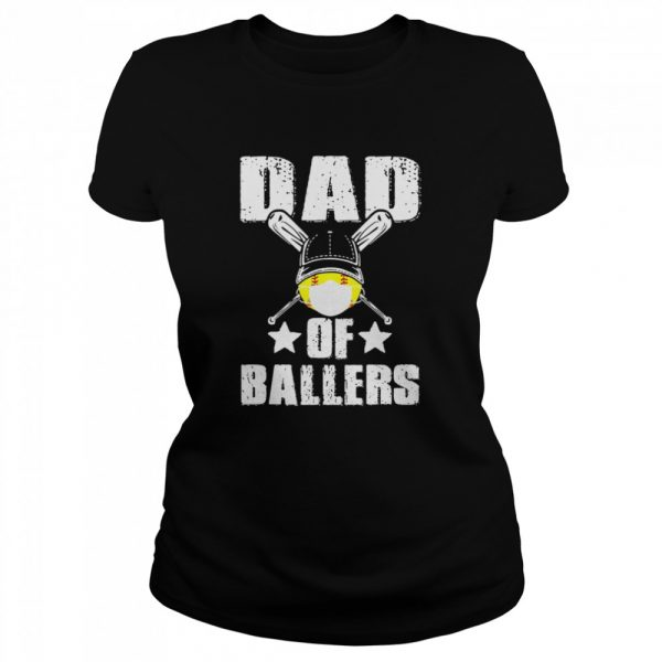 Dad Of Ballers Face Mask  Classic Women's T-shirt