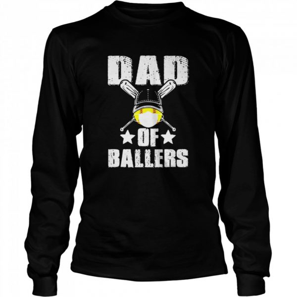 Dad Of Ballers Face Mask  Long Sleeved T-shirt