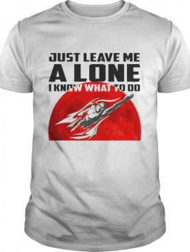 Swimming just leave me alone I know what to do shirt
