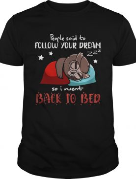 Owl People Said To Follow Your Dream So I Went Back To Bed Tshirt